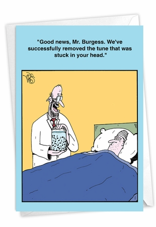 Hilarious Get Well Card From NobleWorksInc.com - Ear Worm Operation