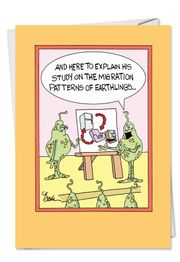 Earthlings Fathers Day Funny Card