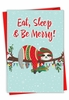 Hilarious Merry Christmas Card From NobleWorksInc.com - Eat, Sleep and Be Merry