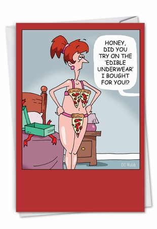 Humorous Valentine's Day Card From NobleWorksInc.com - Edible Underwear