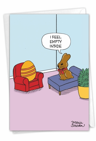 Hysterical Easter Card From NobleWorksInc.com - Empty Bunny