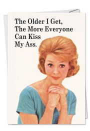 Everyone Kiss Myss Birthday Funny Card