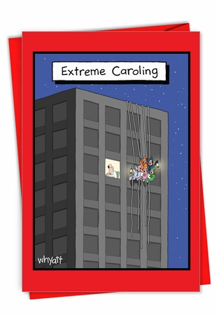 Hysterical Merry Christmas Card From NobleWorksInc.com - Extreme Caroling