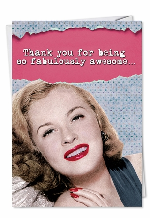 Hilarious Thank You Card From NobleWorksInc.com - Fabulously Awesome