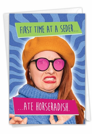 Hilarious Passover Card From NobleWorksInc.com - First Time Seder