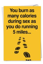 Five Miles Funny Birthday Card by NobleWorks