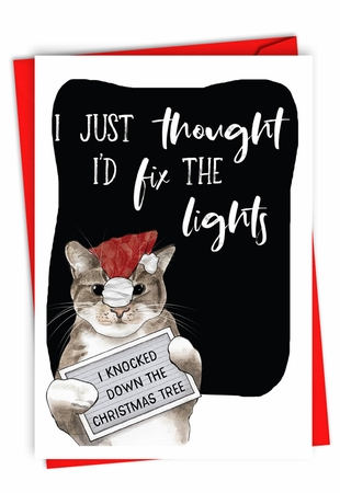 Humorous Merry Christmas Card From NobleWorksInc.com - Fix The Lights