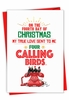 Humorous Merry Christmas Card From NobleWorksInc.com - Four Calling Birds