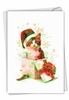 Stylish Merry Christmas Card From NobleWorksInc.com - Funky Rainbow Holiday Cats