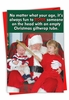 Funny Merry Christmas Card From NobleWorksInc.com - Giftwrap Tube