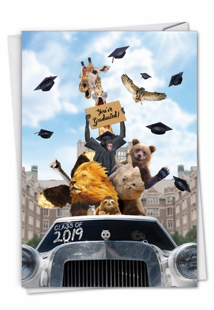 Stylish Graduation Card From NobleWorksInc.com - Going Wild - 2019