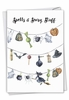 Stylish Halloween Card From NobleWorksInc.com - Gourds and Ghouls - Strung up