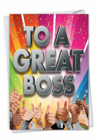 Hysterical Boss Thank You Card From NobleWorksInc.com - Great Boss