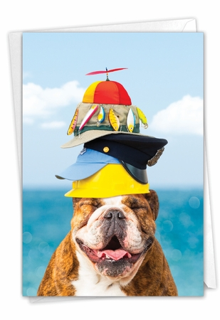 Funny Father's Day Card From NobleWorksInc.com - Hat Dog