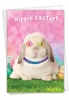 Funny Easter Card From NobleWorksInc.com - Hippie Rabbit