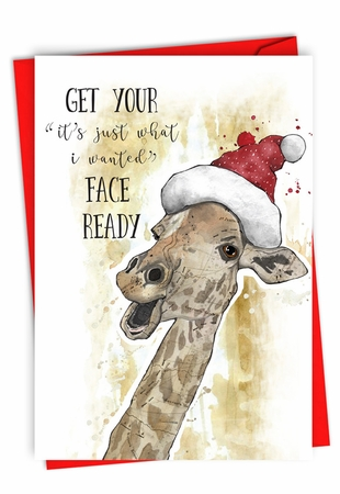 Funny Merry Christmas Card From NobleWorksInc.com - Holiday Fake Face