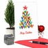 Stylish Merry Christmas Card From NobleWorksInc.com - Holiday Hearts
