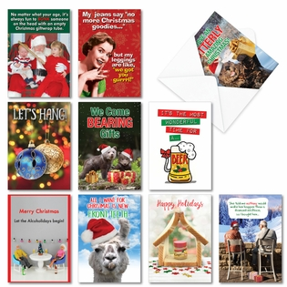 Funny Merry Christmas Assorted Cards From NobleWorksInc.com - Holiday Laughs