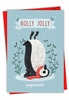 Funny Merry Christmas Card From NobleWorksInc.com - Holiday Yoganimals-Penguin