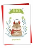 Hilarious Merry Christmas Card From NobleWorksInc.com - Holiday Yoganimals-Squirrel