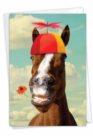 Hysterical Birthday Card From NobleWorksInc.com - Horse Around