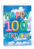 Stylish Milestone Birthday Card From NobleWorksInc.com - Inflated Messages - 100