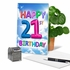 Hysterical Milestone Birthday Card From NobleWorksInc.com - Inflated Messages - 21