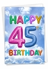 Humorous Milestone Birthday Card From NobleWorksInc.com - Inflated Messages - 45