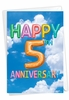 Creative Milestone Anniversary Card From NobleWorksInc.com - Inflated Messages - 5