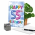 Hysterical Milestone Birthday Card From NobleWorksInc.com - Inflated Messages - 55