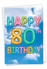Stylish Milestone Birthday Card From NobleWorksInc.com - Inflated Messages - 80