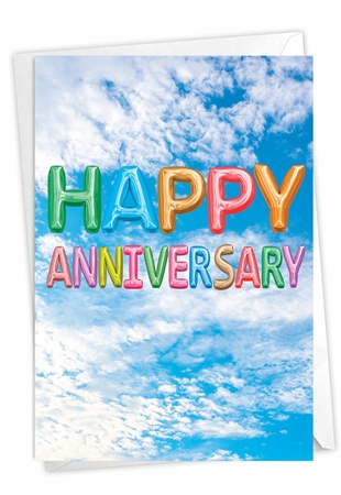 Creative Anniversary Card From NobleWorksInc.com - Inflated Messages - Anniversary