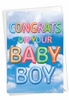 Stylish Baby Card From NobleWorksInc.com - Inflated Messages - Baby Boy