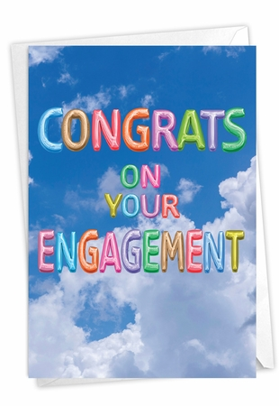 Stylish Engagement Card From NobleWorksInc.com - Inflated Messages - Engagement