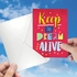 Artful Martin Luther King Jr. Day Card From NobleWorksInc.com - Keep The Dream Alive