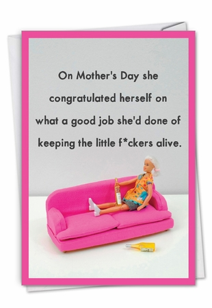 Hilarious Mother's Day Card From NobleWorksInc.com - Keeping Kids Alive