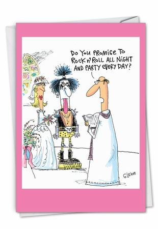 Hysterical Wedding Congratulations Card From NobleWorksInc.com - Kiss The Bride