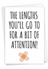 Funny Get Well Card From NobleWorksInc.com - Lengths You'll Go