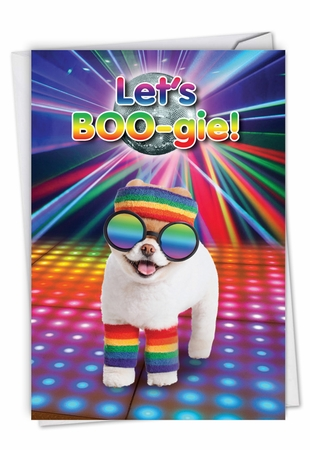 Funny Birthday Card From NobleWorksInc.com - Let's Boo-gie