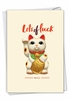 Funny Good Luck Card From NobleWorksInc.com - Lots of Luck