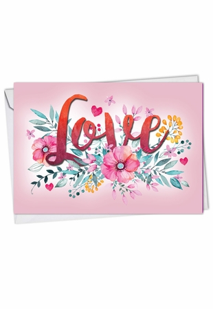 Beautiful Valentine's Day Card From NobleWorksInc.com - Love in Bloom