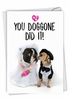 Hysterical Wedding Congratulations Card From NobleWorksInc.com - Married Dogs