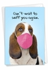 Hysterical Miss You Card From NobleWorksInc.com - Masked Dogs - Beagle
