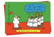 Mental Choir Christmas Funny Card