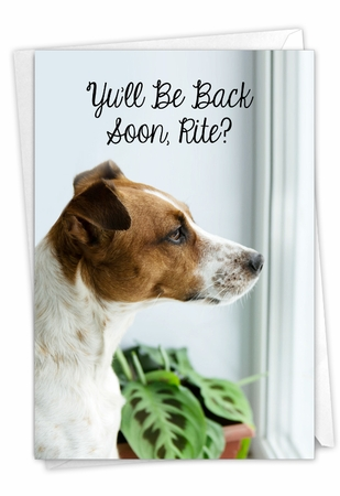 Artistic Miss You Card From NobleWorksInc.com - Miss U Doggies - Back Soon