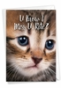 Stylish Miss You Card From NobleWorksInc.com - Miss U Kitties