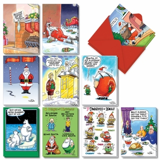 Funny Merry Christmas Assorted Cards From NobleWorksInc.com - Morning After Christmas Assortment