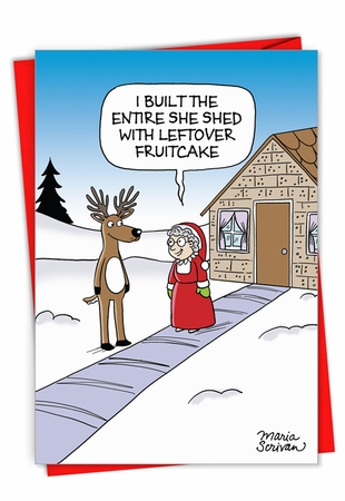 Hysterical Merry Christmas Card From NobleWorksInc.com - Mrs. Claus' She Shed