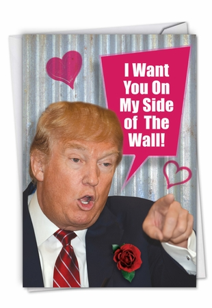 Humorous Valentine's Day Card From NobleWorksInc.com - My Side Of The Wall