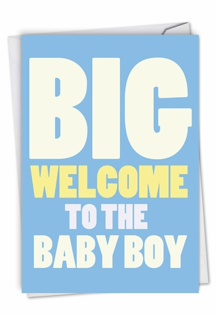 Humorous Baby Card From NobleWorksInc.com - New Baby Boy